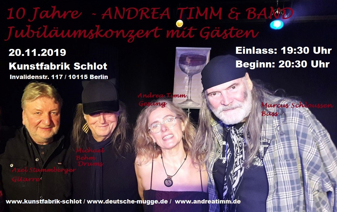 20.11.2019 Kunstfabrik Schlot Andrea Timm